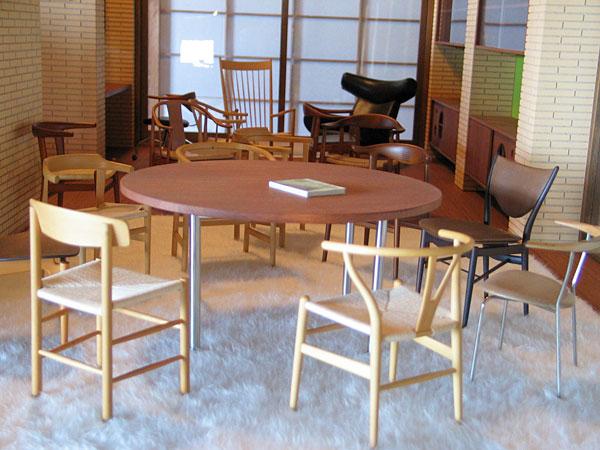 北欧家具のミニチュア展